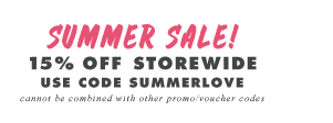 15% off Storewide Sale